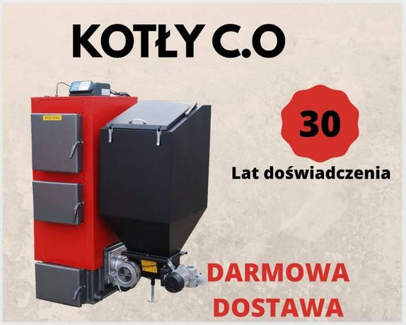 25 kW KOCIOŁ do 200 m2 Piece na EKOGROSZEK z podajnikiem Piec 22 23 24