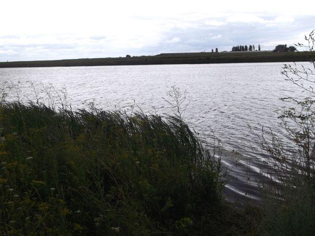 будинок біля ставка