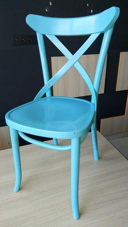 Krzesło klasyczne drewno kolor niebieski AG-150P Radomsko