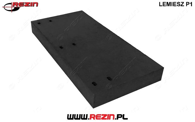 Lemiesz gumowy P1 520 / 250 / 50 mm do pługa odśnieżnego REZIN POLSKA