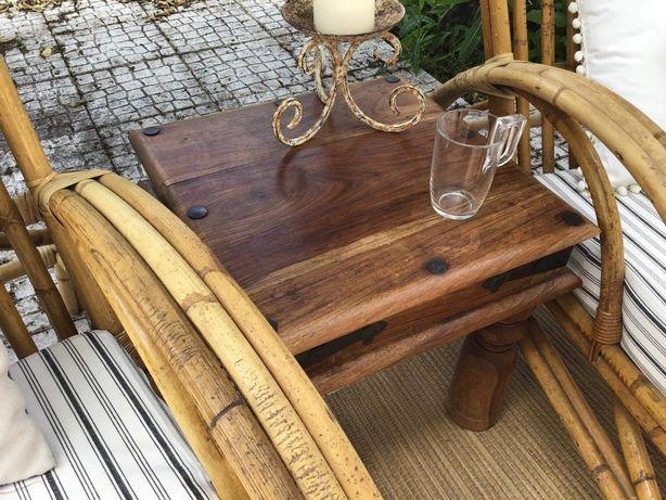 mesa, centro, apoio, indiana, rustico