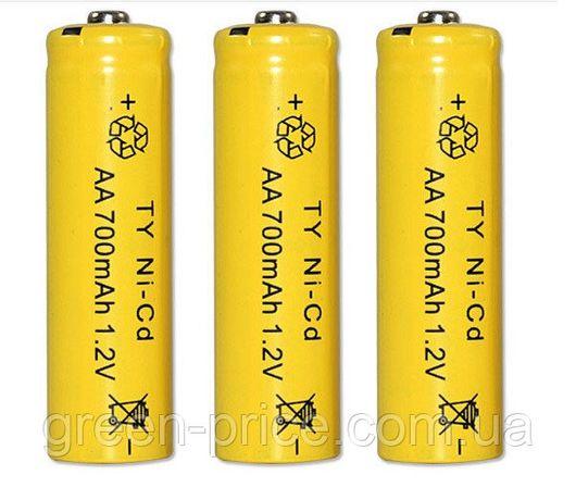 Аккумулятор AA 1.2V 700 mAh Ni-Cd Аккумуляторные батарейки АКБ 14500