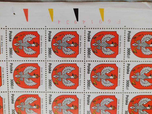 Arkusze polskich znaczków pocztowych