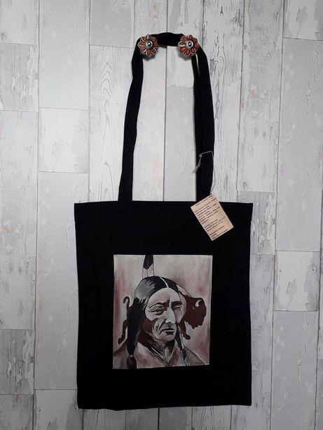 Torba torebka eko ręcznie malowana nowa Indianin na prezent