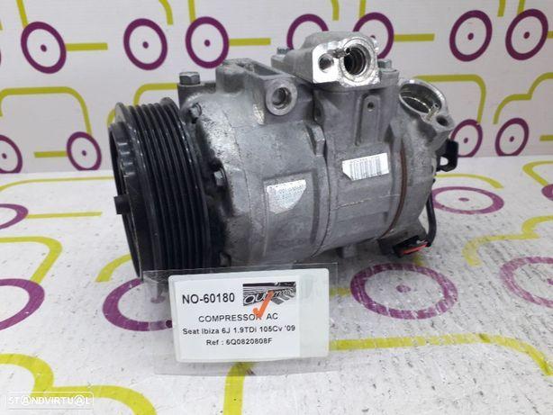 Compressor AC Seat Ibiza 6J 1.9 TDi 105Cv de 2009 - Ref: 6Q0820808F - NO60180