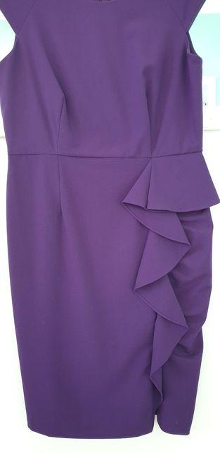 Sukienka Calvin Klein fiolet 38 elegancka