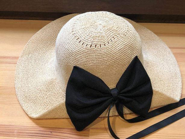 Miniso летняя шляпа с лентой Корея с регулеровкой размера
