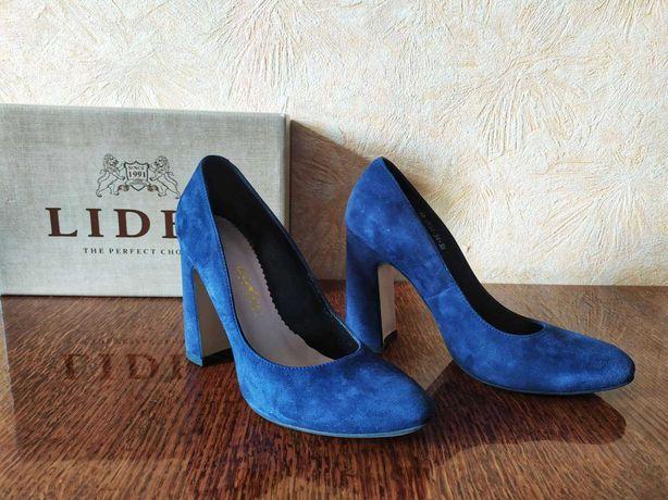 Туфли синии замш