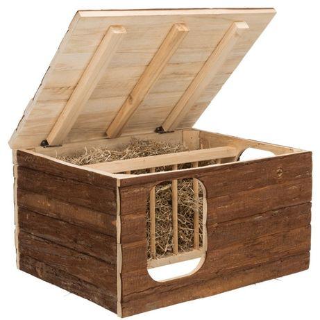 """Casa """"Hilke"""" em madeira com porta feno (nova)"""