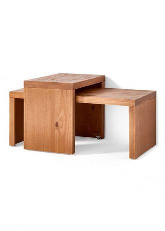PROMOCJA Dwa stoliki drewniane, jeden ruchomy stolik na kolkach meble