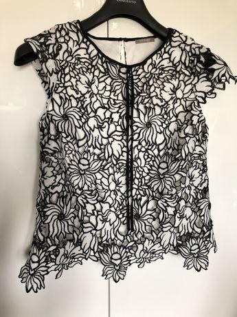 Ażurowa czarno biała bluzka - Orsay