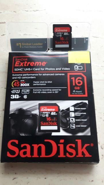 SanDisk 16 GB sony alfa nikon 45mb/s