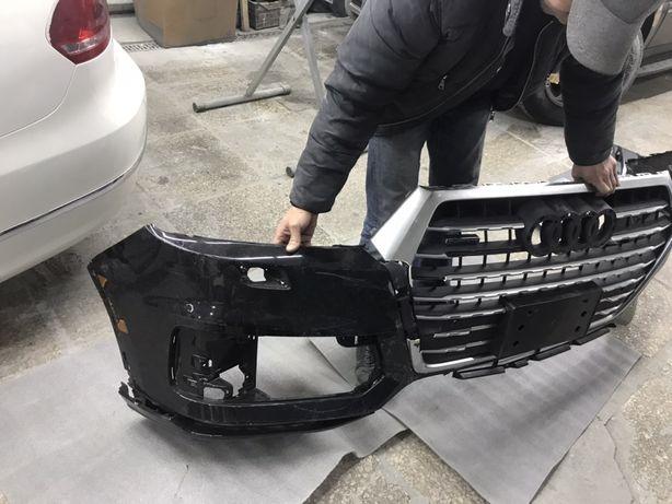 Продам передний бампер оригинал Audi Q7 4M USA 2015-2019 с дефектом