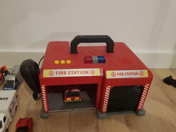 Remiza strażacka dźwig zdalnie sterowany resoraki autabetoniarka