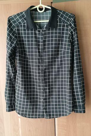 Bluzka koszulowa Reserved, rozmiar 36, czarna w kratę