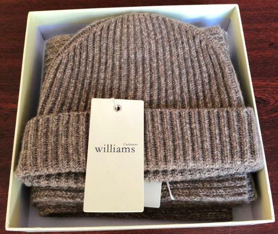 Супер теплый набор шапка+шарф из 100% чистого кашемира!Эксклюзив!