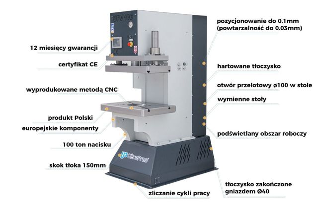 Prasa hydrauliczna UPV100TT UltraPras