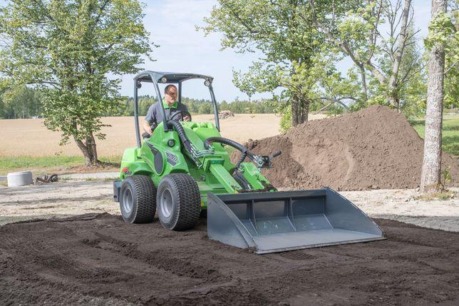 Zakładanie trawników - równanie i niwelacja terenu - prace ziemne