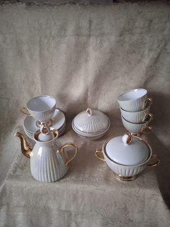 Сервиз фарфоровый чайный кофейный СССР полонное