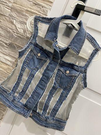 Kamizelka jeansowa LIU JO r.S