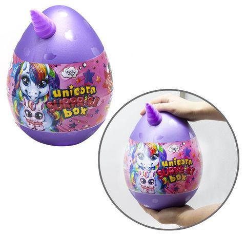 Игровой набор яйцо сюрприз для девочки единорог, набор для творчества