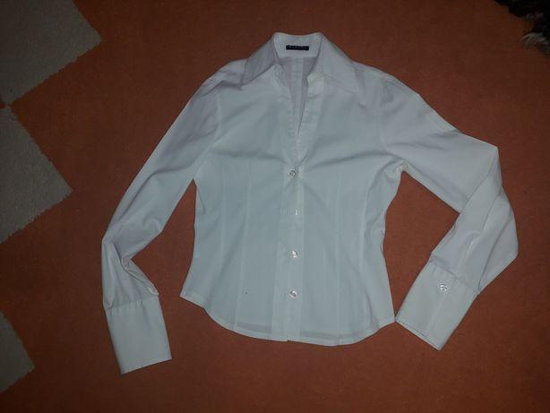 Рубашка белая sisley benetton Италия