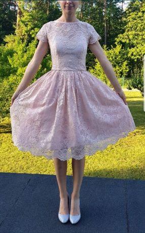 Koronkowa sukienka MIDI r.36