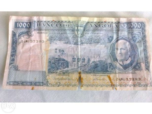 NOTA ano 1962 Angola 1000