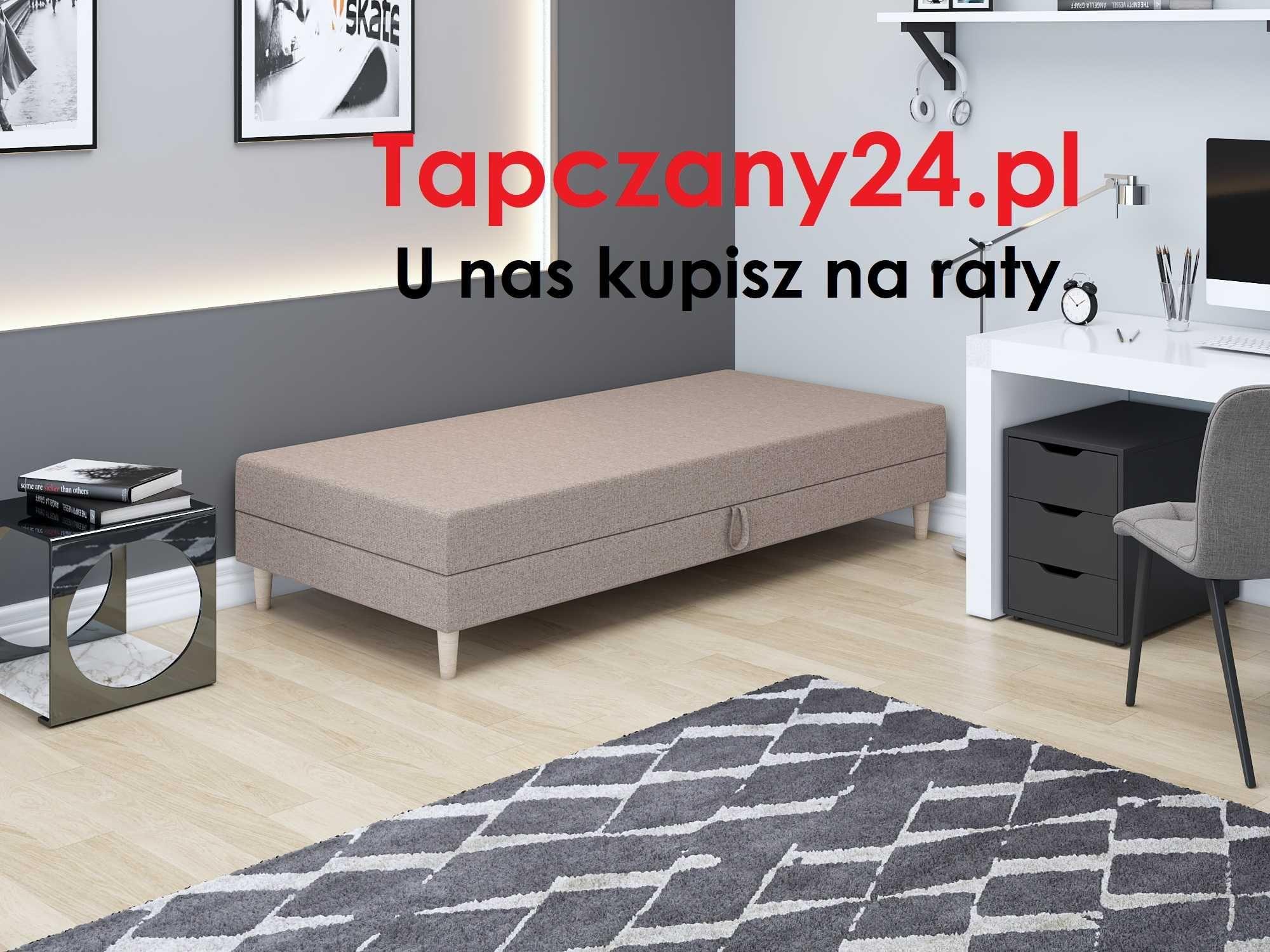 Łóżko młodzieżowe jednoosobowe dziecięce +materac +pojemnik