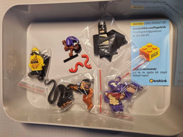 Figurki Lego oryginalne Ninjago Batman elementy bricklink mix kg