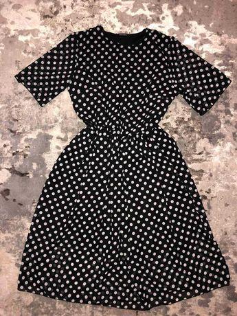 Шифонове плаття в горошок
