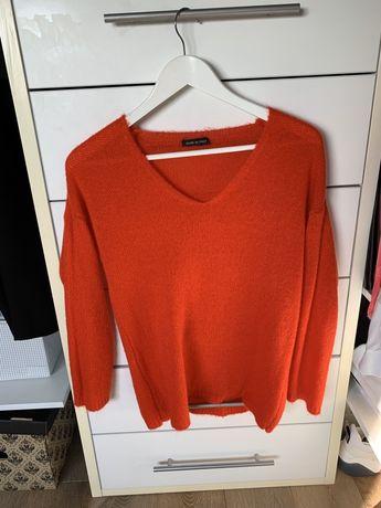 Made in Italy nowy sweterek z włoskiego butiku S czerwony