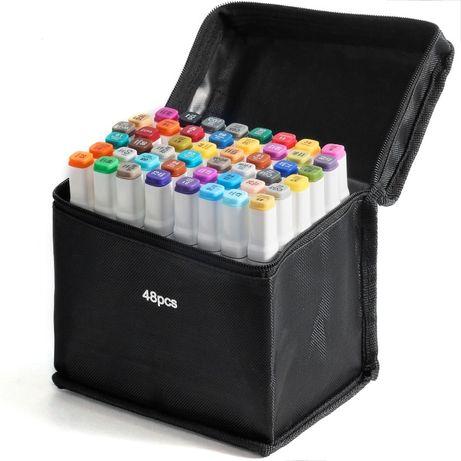 Набор двусторонних маркеров для скетчинга на спиртовой основе 48 штук