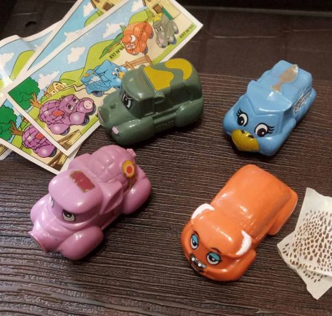 Киндер. Машинки - животные (1996), серия + 3 вкл