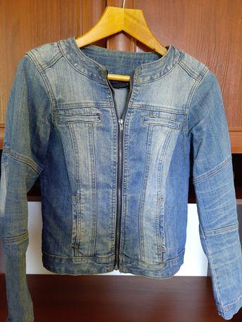Джинсовый пиджак на замке піджак джинсовий