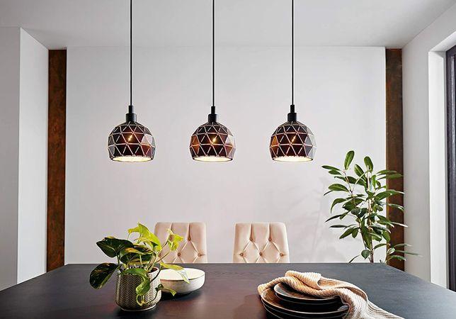 Lampa wisząca Eglo Roccaforte 97846 sufitowa czarna/złota