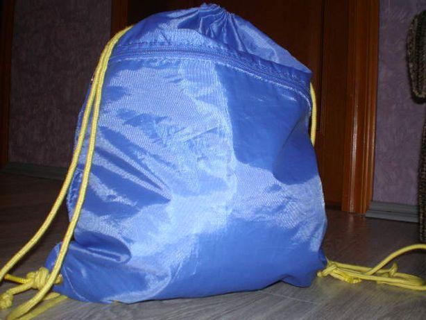 сумка для спортивной формы два отделения синяя