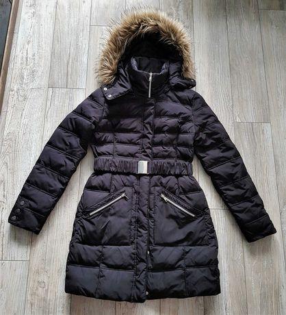 Orsay Pikowana kurtka z paskiem puchowa rozm 40