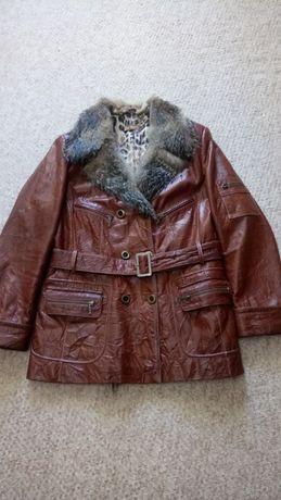 Кожаная Осенняя Зимняя женская куртка МEFI