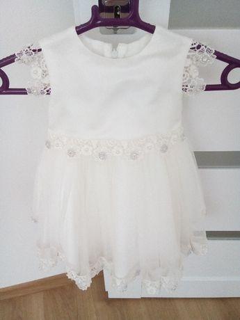 Sukienka dla dziewczynki chrzest roz.74