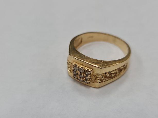 Klasyczny złoty sygnet damski / męski/ 7.4 gram/ 585/ R20/ sklep