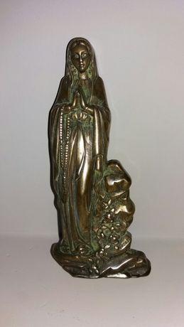 Matka Boża z Lourdes BRĄZ Sofrid Atelier styl Vintage Francja