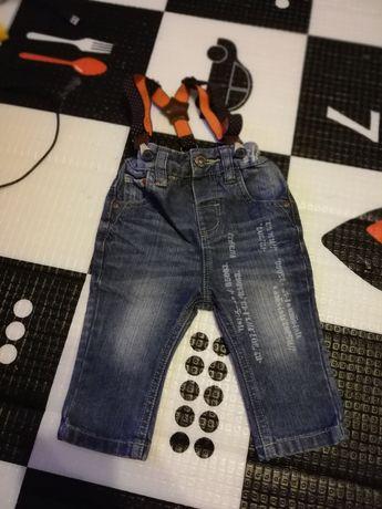 Spodnie z szelkami z nexta