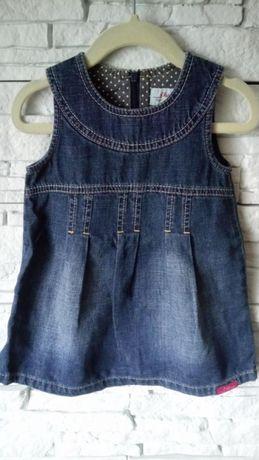 Sukienka dżinsowa roz. 74