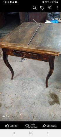 Polski stół 90 lat stary stół drewniany art deco antyk