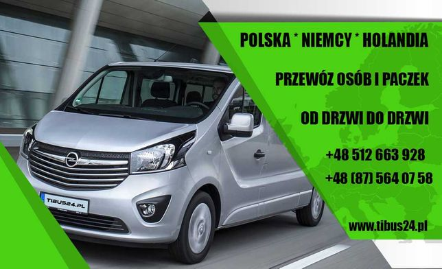 Licencjonowany przewóz osób i paczek POLSKA NIEMCY HOLANDIA