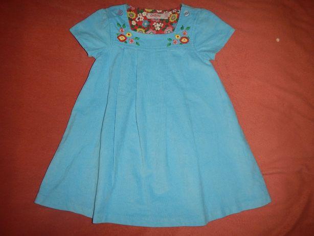 Платье cath kidston р.80-92см (1-2 года) микровельвет