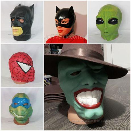 НЛО. Шрек. Фиона. Ниндзя Черепашка. Бэтмен. Крик. Маски. Хэллоуин.