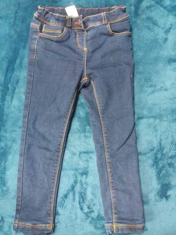 Ocieplane spodnie jeans C&A r. 104