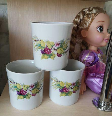 Новые чашки 350 мл 6 шт, Полонский фарфоровый завод Ссср